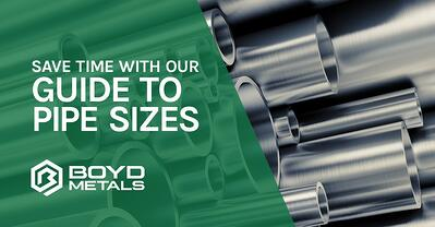 Save Time with our Guide to Pipe Sizes